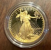 1987-w 1 Oz. American Eagle Proof In Box With Velvet Case