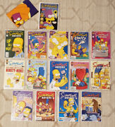 Simpsons Comics Lot Welsh And Bongo 1 Collector's Edition And Issues 94-108 Mint