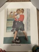 Set Of 6 Norman Rockwell Large Lithographs Limited To 200 Upjohn Company Doctor