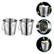 2pcs Stainless Steel Ice Bucket Thickened Champagne Bucket For Home Party