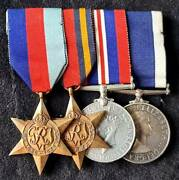 Ww2 Royal Navy Regulating Petty Officer Lsgc Group Of Four