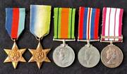 Ww2 Royal Navy Petty Officer Cook Ngsm Near East Group Of Five