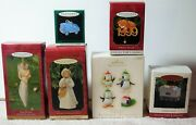 6 Vintage Hallmark Christmas Ornaments South Pole Pals, Angel And More Lot W/boxes