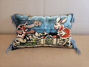 Vintage Disney Tortoise And The Hare Pillow