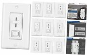 [10 Pack] Dimmer Light Switch For Dimmable Led, Halogen And Incandescent