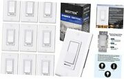 [10 Pack] Dimmer Light Switch Single-pole Or 3-way 120v Compatible 1.white