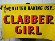Vintage Lot Of Large Clabber Girl Advertising Paper Signs
