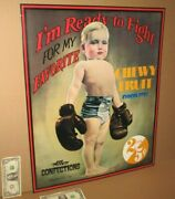 Candy Sign - Louisville Ky Boy Boxer Ready To Fight Big Kentucky Confections Tin