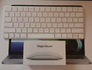 New Apple White Silver Wireless Bluetooth Magic Keyboard + Mouse 2 Lot Authentic