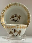 Chinese Export American Eagle Helmet Cup Saucer David S. Howard Mottahedeh Col.