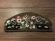Russian Soviet Pilotka Army Military Hat Cap With Patches Metal Badges/medals 56