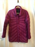 Landsand039 End Goose Down Purple Puffer Coat Jacket Size S Very Light Weight
