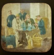 1860s Stereoview French Tissue Lab Medical Experiments Bottles Chemist Police