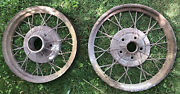 """1930s Old Vintage Ford Car Tire Rims Hard To Find 20"""" And 22"""" Rims -read"""