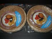 8 Vintage Bamboo Paper Plate Holders For Picnics Camping 2 Packs Of Four Sealed