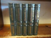 Lord Of The Rings New Leather Book Set J. R. R. Tolkien Hobbit Two Towers Return