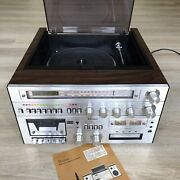 Thomas Model 4040 Am-fm Stereo Reciever And Turntable W/cassette/8 Track Player