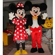 Mickey And Minnie Mouse Adult Size Cosplay Costume Party Fancy Dress