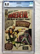Daredevil 6 1965 Cgc 8.0 Ow First Appearance Of Mister Fear Zoltan Drago Mcu