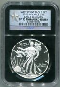 Ngc-sp70 Early Releases 2013-w Enhanced Finish Silver Eagle - West Point Set