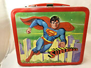 Vintage 1978 Superman Metal Lunchbox And Thermos By Aladdin