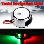 Marine Boat 12v Led Red Green Bow Navigation Light Lamps 2 Nautical Miles M20 Us