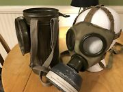 German Style Gas Mask Spanish Gas Mask With Canister Complete With Straps