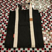 Black Canvas Firewood Log Carrier Bag Waxed Durable Wood Tote Fireplace Camping