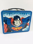 Superman Metal Lunchbox With Thermos 1998 Unused W/ Coupons Fastfreeshipping