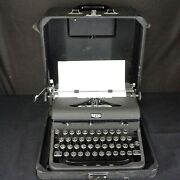 Vintage Royal Arrow Typewriter In Case Nicely Preserved Glass Keys, A Beauty