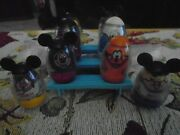 Vintage 1976 Mickey Mouse Club Disney Weebles-mickeyplutogoofy And More-lot Of 8