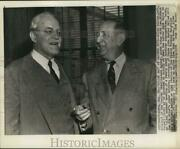 1956 Press Photo Allen Dulles And Richard Russell Testify In Washington.