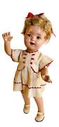 """1936 Egee Doll Miss Charming Shirley Temple Look Alike Doll 19"""" Tin Eyes Mohair"""