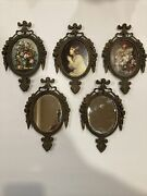 Vintage Ornate Metal Picture Frames Made In Italy 6.5andrdquo