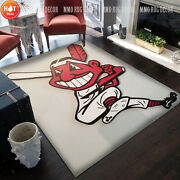 Cleveland Indians Chief Wahoo Rugs Mlb Carpets Gift For Living Room Home Decor