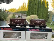 O Scale Lionel Great Northern Loaded Ore Cars.