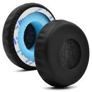 1pair Black/white Earpads Cushion Covers Replacement For Sony Mdr-xb400 Headset
