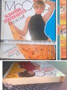 1980s Fashion Mccalls Patterns Large Counter Catalog Book Vtg July August 1986