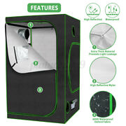 Hydroponic Plant Growing Tent Reflective Mylar Grow Room Box Indoor 48x48x80in
