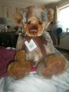 Charlie Bear Bashful With Tags On Lovely Plush Colours Has Tickly Paws