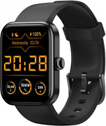 Hafury Smart Watch Alexa And Microphone Built-in 10-day Battery Black