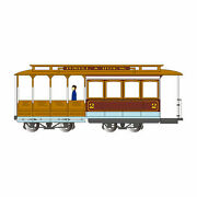 Bachmann Industries Ho Cable Car Maroon And Tan