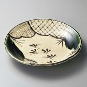 Oribe Cloisonnies 10.0 Dish Plate Japanese Round Platter Tableware Full For
