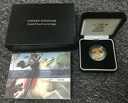 United Kingdom 2007 Gold Proof Sovereign Original Packaging With Coa And Box