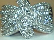 9ct Gold White Gold Hallmarked Natural Real Diamond Puzzle Style Ring Size O