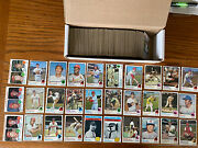 1973 Topps Baseball Near Complete Set Approx 530 Dif Many Stars 51 Hiandrsquos Vg+-