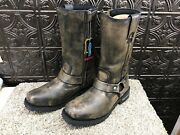 Milwaukee Distressed Leather Menand039s Biker Boot Size 11