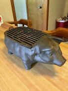 Cast Iron Table Top Charcoal Habachi Vintage Grill