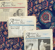 Vintage Antique Collectible Antiques And Auction Newspapers