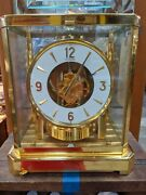 1960and039s Jaeger-lecoultre Model 528 Perpetual Moving Atmos Mantle/shelf Clock